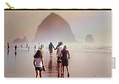 Carry-all Pouch featuring the photograph Summer At The Seashore  by Micki Findlay