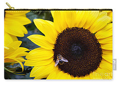 Summer Bee In Sunflower Carry-all Pouch