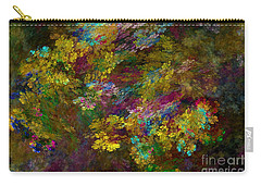 Carry-all Pouch featuring the digital art Summer Burst by Olga Hamilton