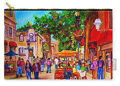 Carry-all Pouch featuring the painting Summer Cafes by Carole Spandau