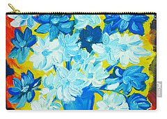 Carry-all Pouch featuring the painting Summer Daisies by Ramona Matei