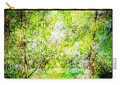 Carry-all Pouch featuring the mixed media Summer Days Of Yore #1 by Sandy MacGowan