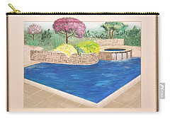 Carry-all Pouch featuring the painting Summer Days by Ron Davidson