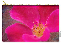 Summer Delight My Pink Rose Carry-all Pouch by Denyse Duhaime