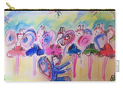 Carry-all Pouch featuring the painting Summer Flutter by Judith Desrosiers