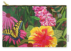 Carry-all Pouch featuring the painting Summer Garden by Ellen Levinson