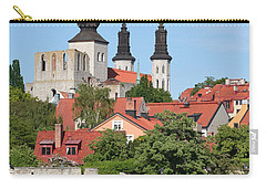 Summer Green Medieval Town Carry-all Pouch