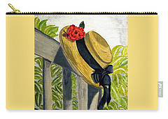 Carry-all Pouch featuring the painting Summer Hat by Angela Davies