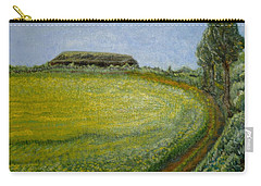 Carry-all Pouch featuring the painting Summer In Canola Field by Felicia Tica