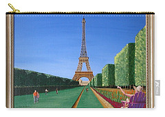 Carry-all Pouch featuring the painting Summer In Paris by Ron Davidson