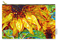 Summer In The Garden Carry-all Pouch by Mandy Budan