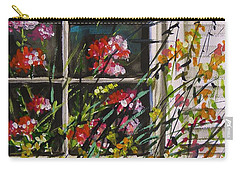 Carry-all Pouch featuring the painting Summer Inside And Out by John Williams