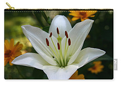 Carry-all Pouch featuring the photograph Summer Lily by Denyse Duhaime
