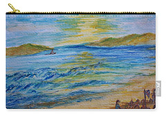 Carry-all Pouch featuring the painting Summer/ North Wales  by Teresa White