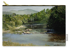 Carry-all Pouch featuring the painting Summer On The River In Vermont by Laurie Rohner