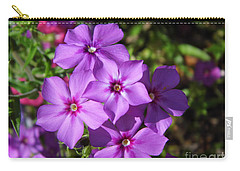 Carry-all Pouch featuring the photograph Summer Purple Phlox by D Hackett