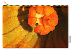 Summer Squash Blossom Carry-all Pouch by Jennifer Muller