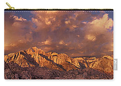 Carry-all Pouch featuring the photograph Summer Storm Clouds Over The Eastern Sierras California by Dave Welling