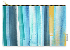 Summer Surf- Abstract Painting Carry-all Pouch by Linda Woods