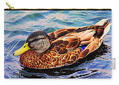 Carry-all Pouch featuring the photograph Summer Swim by Denyse Duhaime