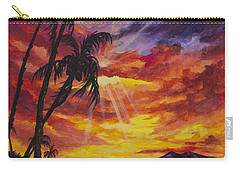 Carry-all Pouch featuring the painting Sun Burst by Darice Machel McGuire