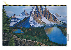 Carry-all Pouch featuring the painting Sun Burst Peak by Sharon Duguay