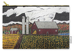 Carry-all Pouch featuring the painting Sun Flower Farm by Jeffrey Koss