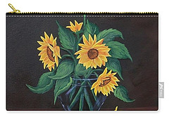 Carry-all Pouch featuring the painting Sun Flowers  by Sharon Duguay