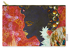 Carry-all Pouch featuring the tapestry - textile Sun Guardian - The Keeper Of The Universe by Apanaki Temitayo M