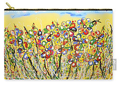 Sun-kissed Flower Garden Carry-all Pouch