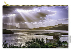 Sun Rays Over Eilean Donan Castle Carry-all Pouch
