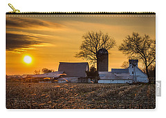 Sun Rise Over The Farm Carry-all Pouch