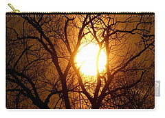 Sun Rise Sun Pillar Silhouette Carry-all Pouch