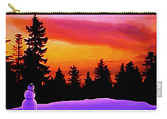 Sun Setting On Snow Carry-all Pouch