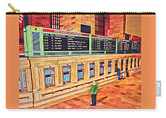 Carry-all Pouch featuring the painting Sunday Am At Grand Central by Deborah Boyd