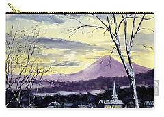 Carry-all Pouch featuring the painting Sunday In Winter by Lee Piper