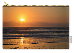 Carry-all Pouch featuring the photograph Sundays Golden Sunrise by DigiArt Diaries by Vicky B Fuller