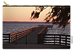 Sundown At Shands Dock Carry-all Pouch