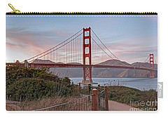 Carry-all Pouch featuring the photograph Sundown Bridge by Kate Brown