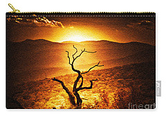 Sundown In The Mountains Carry-all Pouch by Lydia Holly
