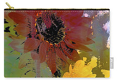 Sunflower 33 Carry-all Pouch by Pamela Cooper