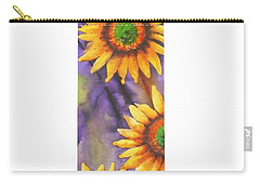 Carry-all Pouch featuring the painting Sunflower Abstract  by Chrisann Ellis