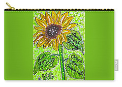 Sunflower Advice Carry-all Pouch by Kathy Marrs Chandler