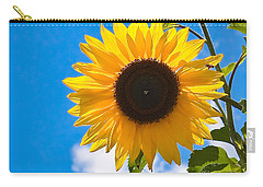 Sunflower And Bee At Work Carry-all Pouch