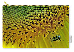 Sunflower And Beetle Carry-all Pouch