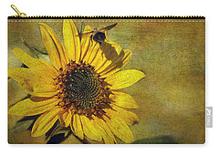 Sunflower And Bumble Bee Carry-all Pouch