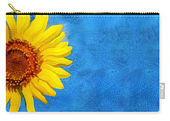 Carry-all Pouch featuring the digital art Sunflower Art by Ann Powell
