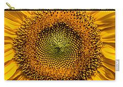 Sunflower Closeup Carry-all Pouch by Carsten Reisinger