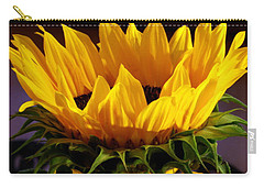 Sunflower Crown Carry-all Pouch by Deborah  Crew-Johnson