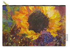 Sunflower Dance Original Painting Impressionist Carry-all Pouch by Quin Sweetman